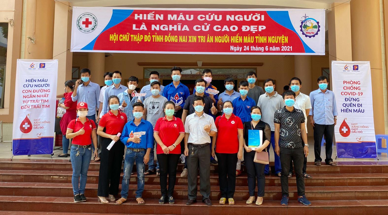 NLĐ Petrolimex Đồng Nai tiếp nguồn máu khan hiếm giữa dịch Covid-19